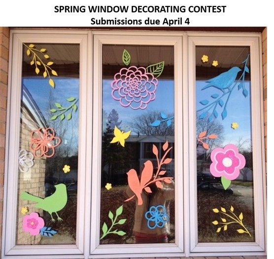 Spring Window Decorating Contest