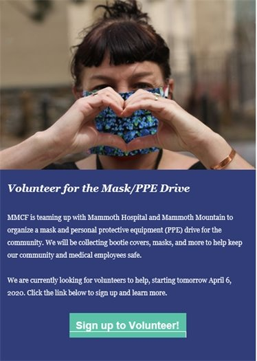 Mammoth Lakes PPE Drive Image