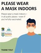Please wear a mask indoors