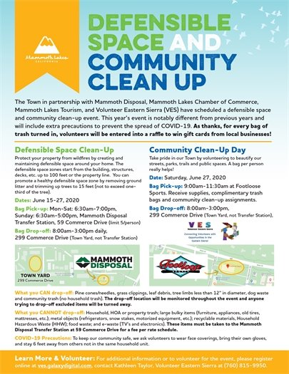 Defensible Space and Community Clean Up