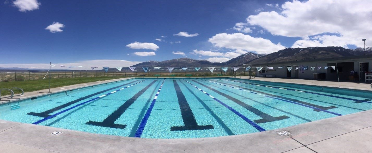Panoramic of Whitmore Pool in summer.