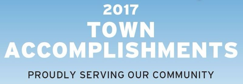 2017 Town Accomplishments