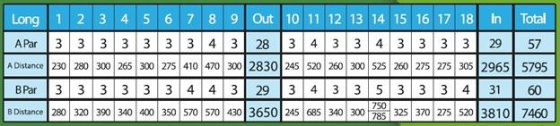 Disc Golf Tee Sheet Long Course