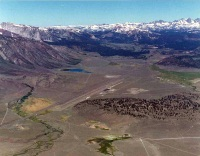 Aerial view of Mammoth Yosemite Airport